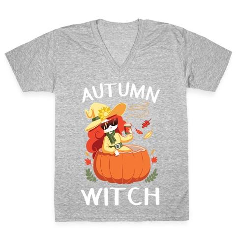 Autumn witch V-Neck Tee Shirt