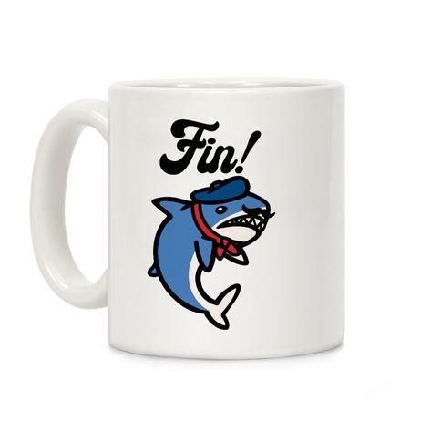 Fin French Shark Parody Coffee Mug