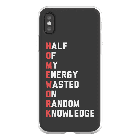 Homework Phone Flexi-Case