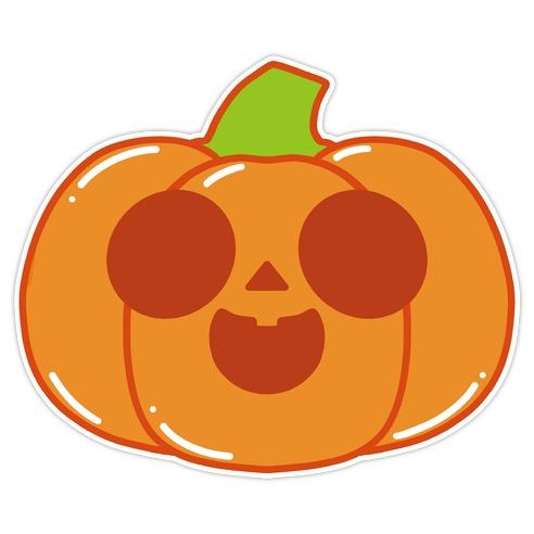 Kawaii Happy Pumpkin Die Cut Sticker