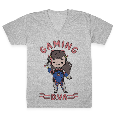 Gaming D.Va V-Neck Tee Shirt