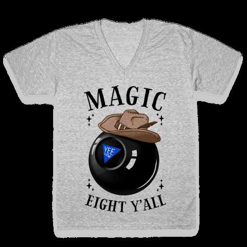 Magic Eight Y'all V-Neck Tee Shirt