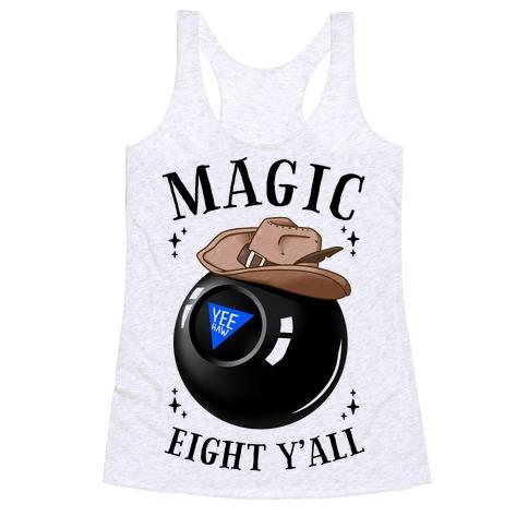 Magic Eight Y'all Racerback Tank Top