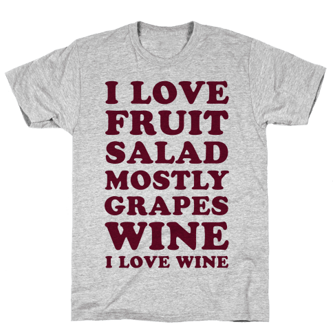 Wine I Love Wine Mens T-Shirt