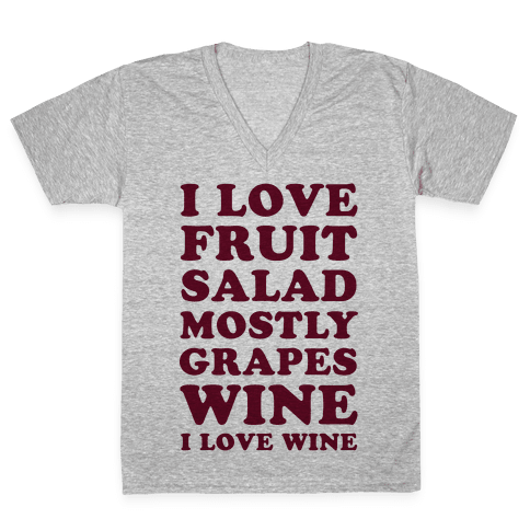 Wine I Love Wine V-Neck Tee Shirt
