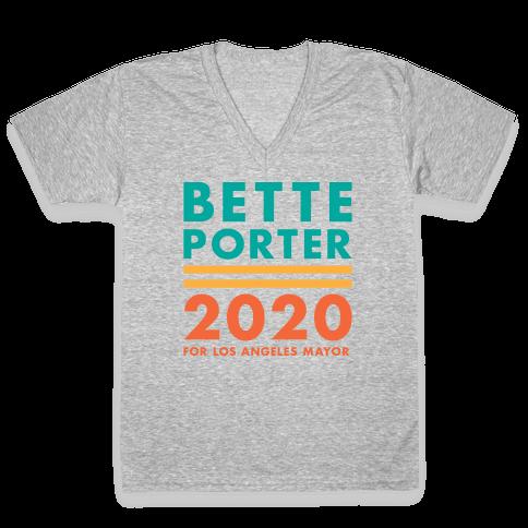 Bette Porter 2020 for Los Angeles Mayor V-Neck Tee Shirt