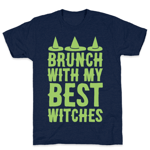 Brunch With My Best Witches White Print Mens T-Shirt