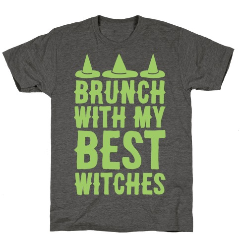 Brunch With My Best Witches White Print T-Shirt