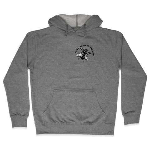 Flies Against Fascism Hooded Sweatshirt