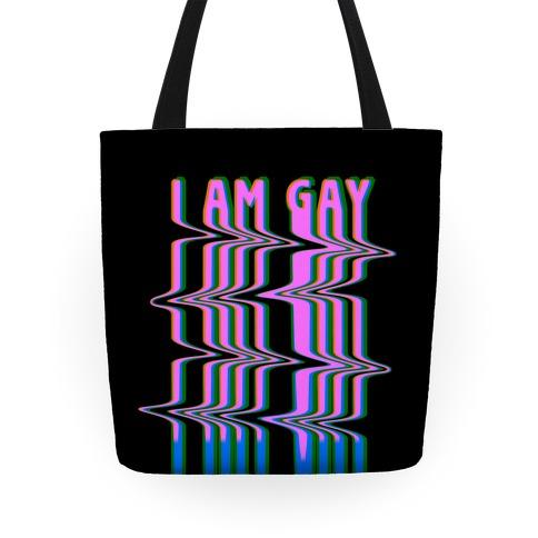 I Am Gay Vaporwave Drip Tote