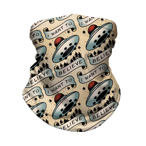 I Want to Believe (Old School Tattoo) Neck Gaiter