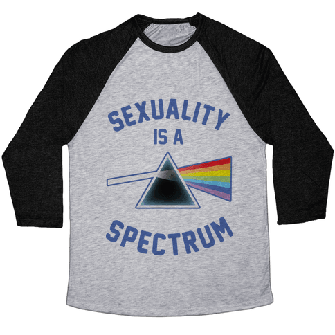 Sexuality is a Spectrum Baseball Tee