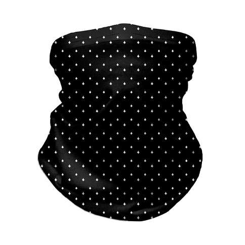 Dainty Stars Pattern Black Neck Gaiter