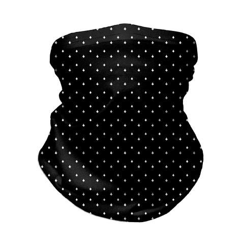 Dainty Stars Pattern Black Neck Gaiter