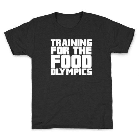 Training for the Food Olympics Kids T-Shirt