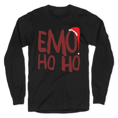 Emo Ho Ho White Print Long Sleeve T-Shirt