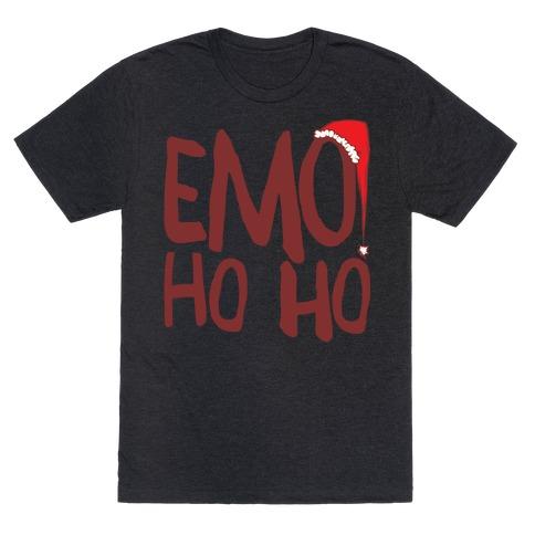 Emo Ho Ho White Print T-Shirt