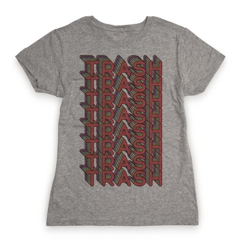 Trash Retro Rainbow Womens T-Shirt