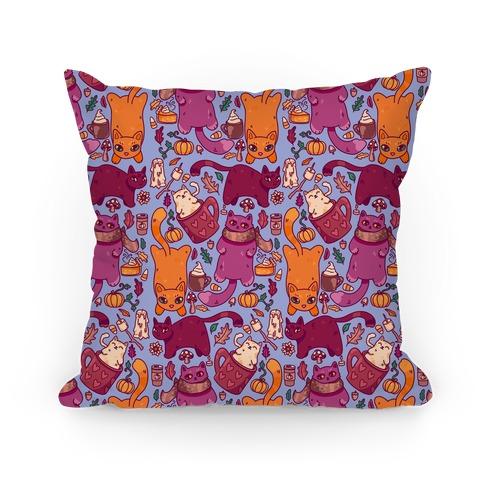 Fall Cats Pattern Pillow