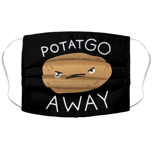 PotatGO AWAY Accordion Face Mask