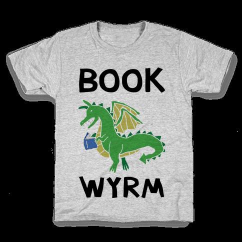Book Wyrm Dragon Kids T-Shirt