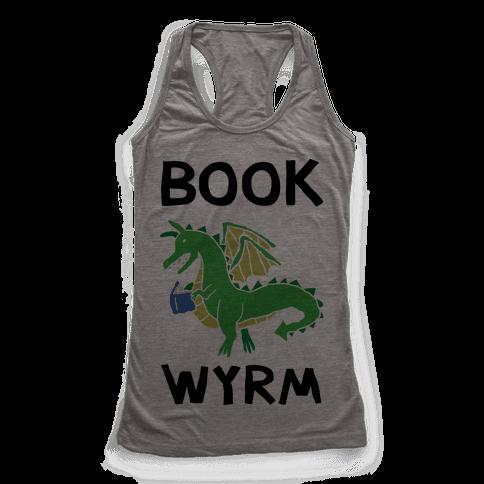 Book Wyrm Dragon Racerback Tank Top