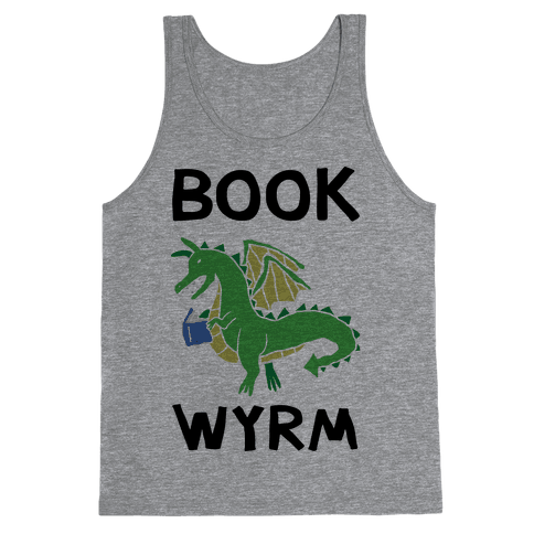 Book Wyrm Dragon Tank Top