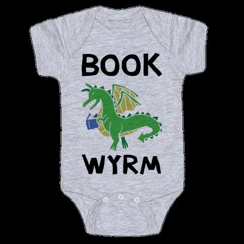 Book Wyrm Dragon Baby Onesy