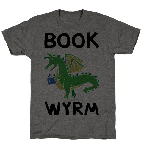 Book Wyrm Dragon T-Shirt