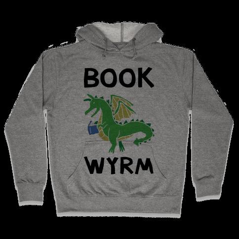 Book Wyrm Dragon Hooded Sweatshirt