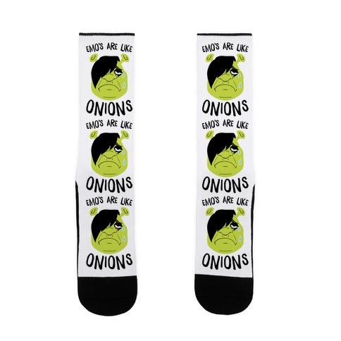 Emos Are Like Onions Sock