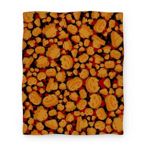 Halloween Nuggies Pattern Blanket