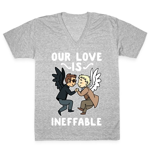 Our Love is Ineffable - Good Omens V-Neck Tee Shirt