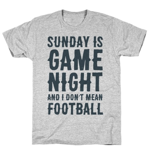 Sunday Is Game Night Parody Mens T-Shirt