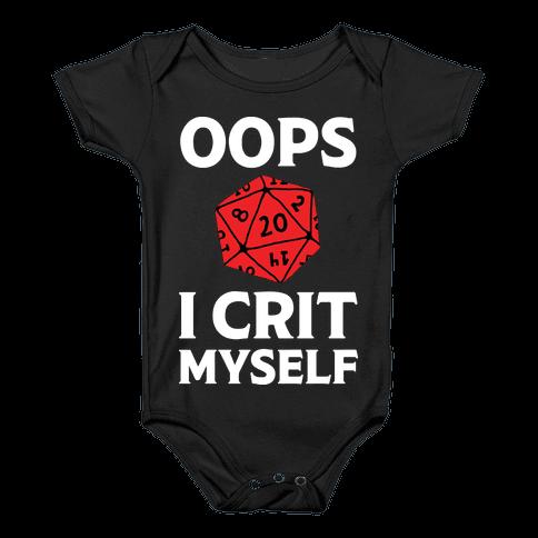 Oops I Crit Myself Baby Onesy