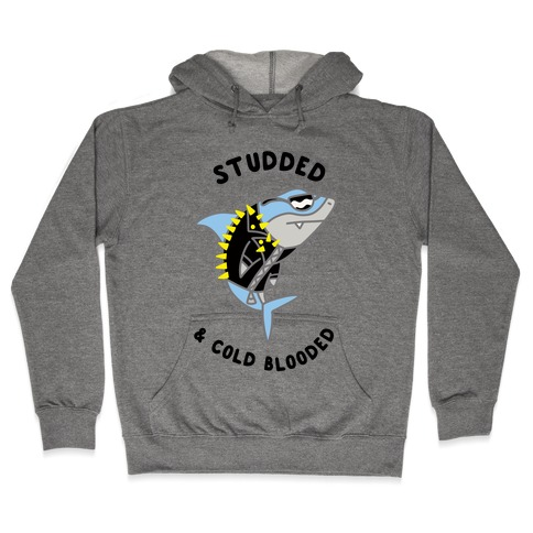 Studded & Cold Blooded Hooded Sweatshirt