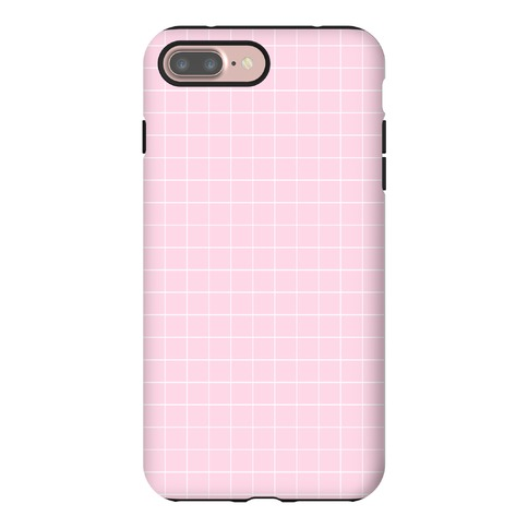 Pink Grid Phone Case