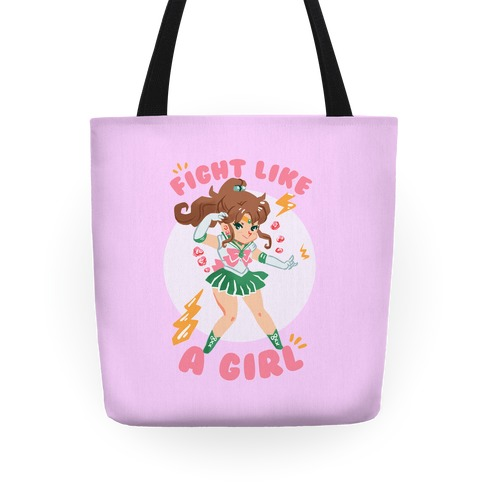 Fight Like A Girl: Jupiter Parody Tote