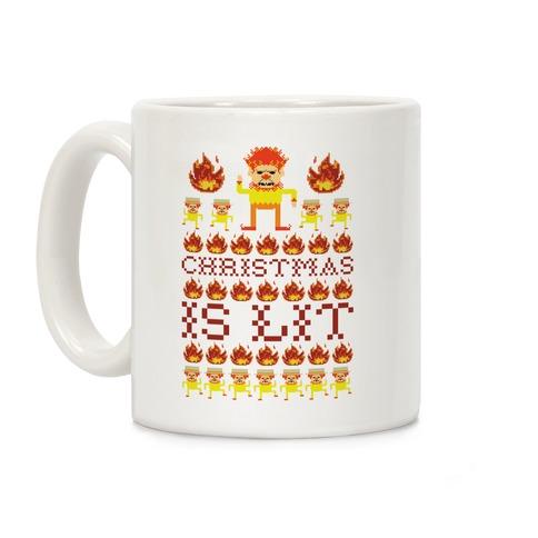 Christmas Is Lit Heat Miser Coffee Mug
