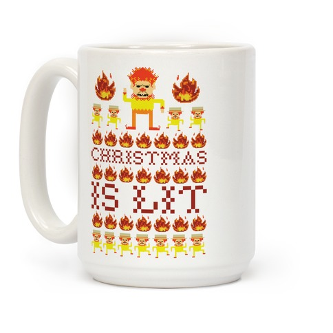 Christmas Is Lit Heat Miser Coffee Mug
