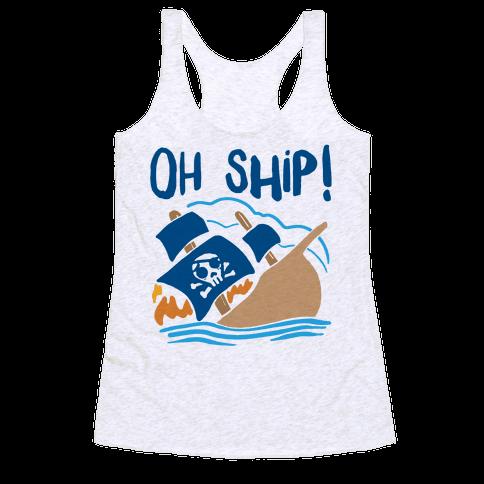 Oh Ship Racerback Tank Top