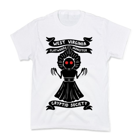 West Virginia Flatwoods Monster Cryptid Socitey Kids T-Shirt