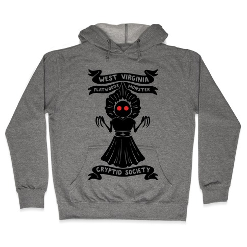 West Virginia Flatwoods Monster Cryptid Socitey Hooded Sweatshirt