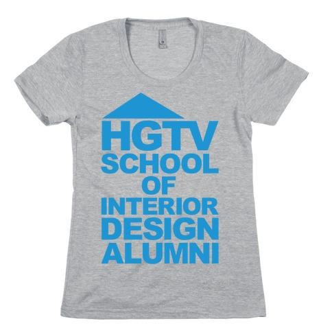 HGTV School of Interior Design Parody Womens T-Shirt