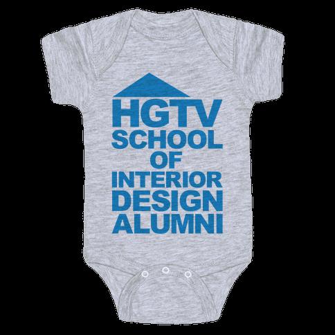 HGTV School of Interior Design Parody Baby Onesy