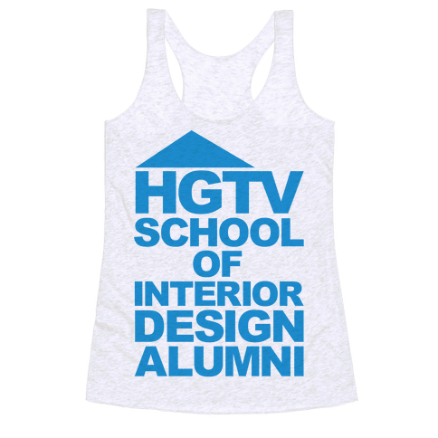 HGTV School of Interior Design Parody Racerback Tank Top