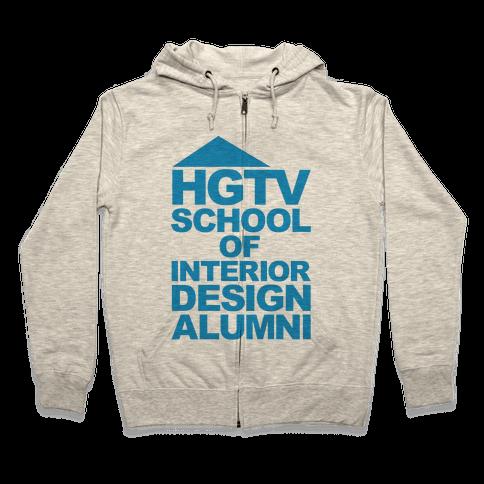 HGTV School of Interior Design Parody Zip Hoodie