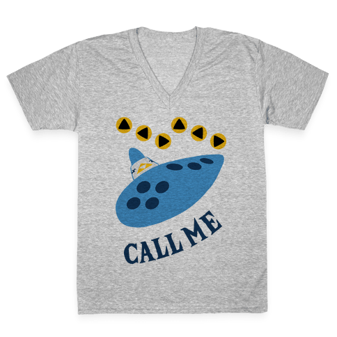 Call Me Zelda Ocarina V-Neck Tee Shirt