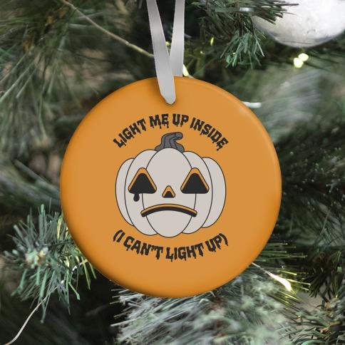 Light Me Up Inside Pumpkin Ornament