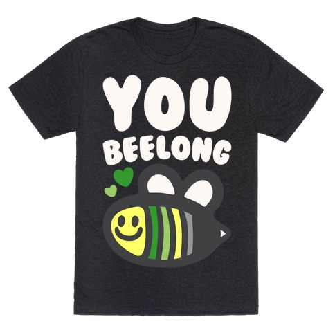 Bee Yourself Aromantic Pride White Print T-Shirt